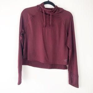 The North Face Burgundy Crop Hoodie Size Small